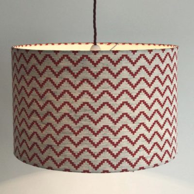 Zig zag drum lampshade handmade by No Naked Windows